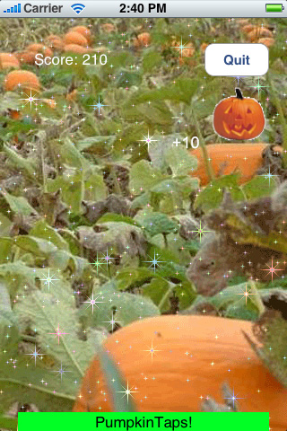 Screenshot Pumpkin Taps